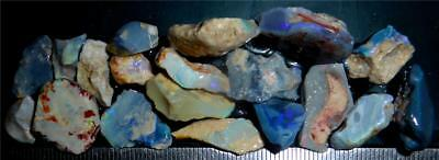 100 Cts #980 Opal Rough And Rough Rubs From Lightning Ridge Australia