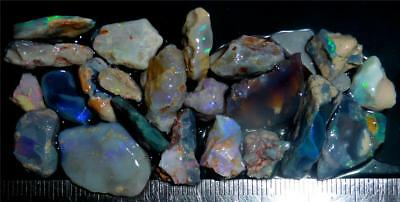 100 Cts #981 Opal Rough And Rough Rubs From Lightning Ridge Australia