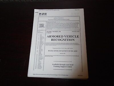 Us Military Armored Vehicle Recognition Graphic Traing Aid 51 Pages 1997 0-36