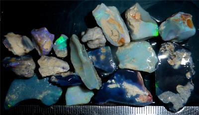 100 Cts #982 Opal Rough And Rough Rubs From Lightning Ridge Australia