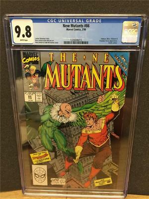 New Mutants 86 Cgc 9.8 Nm/mt White Pgs Vulture Marvel Comic Book Gorgeous Cover!