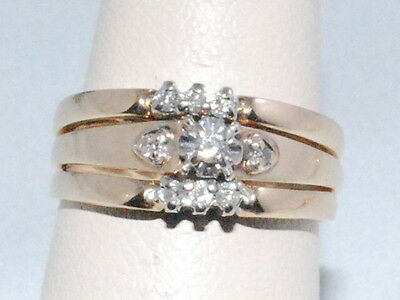 14k Gold 3 Ring Set with Diamonds