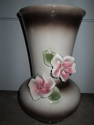Vintage Capodimonte Porcelain Large Vase Made In Italy