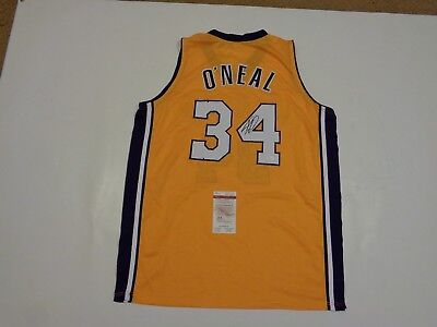 SHAQUILLE O'NEAL signed autographed Lakers gold Jersey JSA Witness