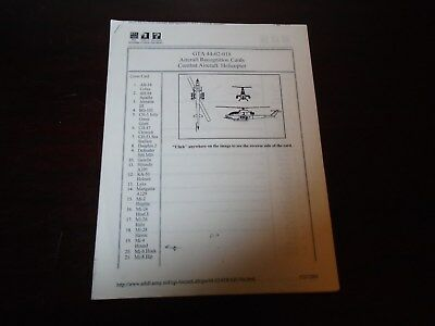 Us Military Combat Aircraft Helicopter Recognition Graphic Traing Aid 2003 0-38