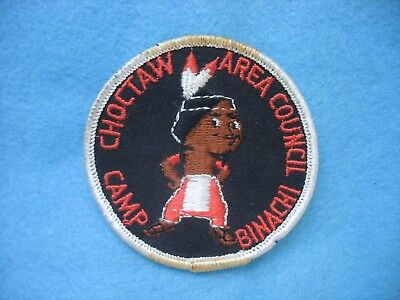 1960's BSA Camp Binachi Choctaw Area Council Meridian Miss. patch.