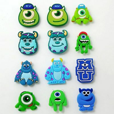 Mike James Monster Shoe Charms Fit Croc Jibbitz Wristbands Kid Gifts 12pcs