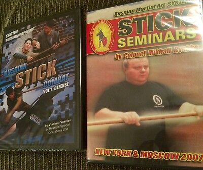 Russian Martial Art SYSTEMA STICK Combat Vladimir Vasiliev Seminar 2 DVD lot NEW