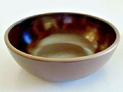Heath Pottery Stoneware VEGETABLE or SIDES BOWL Redwood (Rim) Pattern c. 1960s
