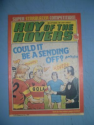 Roy of the Rovers issue dated September 19 1981