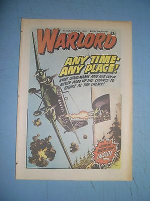 Warlord issue 351 dated June 13 1981
