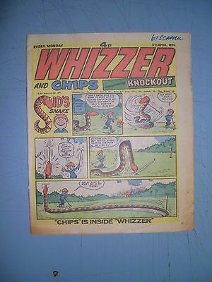 Whizzer and Chips issue dated April 6 1974