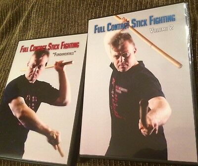 Full Contact Stick Fighting Vol. 1 & 2 DVD s Bryan Stoops Filipino Martial Arts
