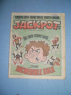 Jackpot issue 31 dated December 1 1979