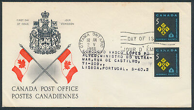 1966 #447 Highway Safety FDC, CPO Presentation Cachet, Letter to Portugal, Fault