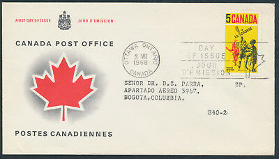 1968 #483 5c Lacrosse FDC, CPO Presentation Cachet with Letter to Columbia