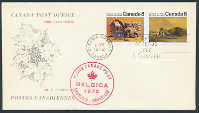 1972 #562-3 Plains Indians Combo FDC, CPO Replacement Cachet, Note and Card