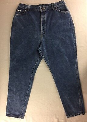 """Vintage Lee Jeans High Waist Relaxed Fit Taper Leg USA Women Plus 24W M 38""""x31"""""""