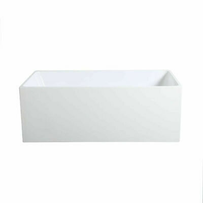 Freestanding Back to Wall Corner Fit Bathtub 1400/1500/1700mm 160/190/230L White