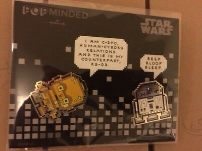 NYCC & SDCC 2017 Hallmark Exclusive PXL8 Pin Set R2-D2 & C-3PO IN-HAND