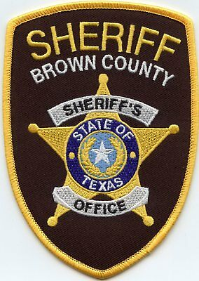 Brown County Texas Tx Sheriff Police Patch