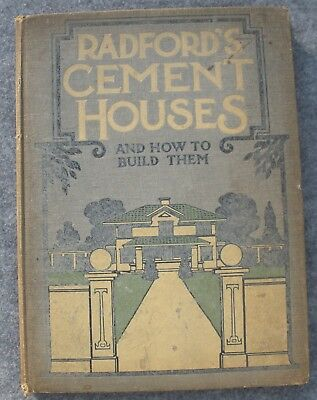 1909 Radford Architectural Co Cement Houses and How to Build Them Catalog