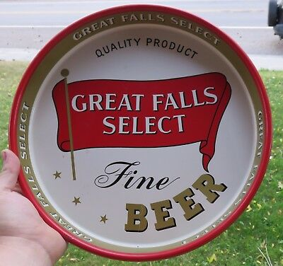 Vintage Great Falls Select Montana Beer Brewing Company Tray Very Clean