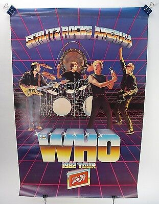 "VINTAGE SCHLITZ ROCKS AMERICA ""THE WHO"" 1982 Tour"