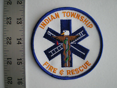 ME Maine Passamaquoddy tribe Indian Township Fire Rescue EMS tribal patch