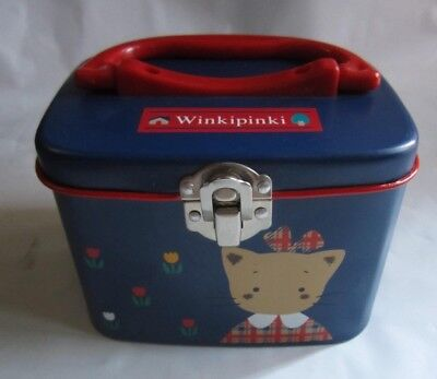 Sanrio 1995 Winkipinki Tin Box With Handle