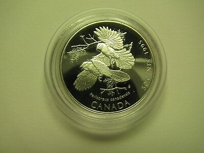 1995 Proof 50 cents Discovering Nature 1 #3-Gray Jays Canada fifty silver COIN O