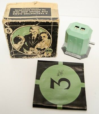 Vtg Deco Mechanical Trade Stimulator Game ON ME Imperial Brass House of Gadgets