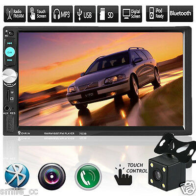 "7"" Double 2DIN Bluetooth Touch Car Stereo Audio FM Radio MP3 Player USB AUX MP5"