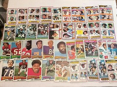 BIG VINTAGE LOT OF TOPPS Football Cards