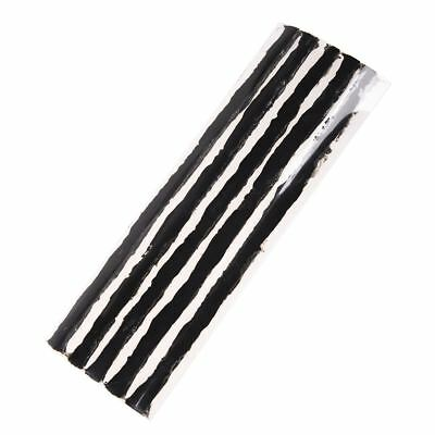 Car Tubeless Tire Repair String Rubber Strips Black 195mm 100 Pcs PK V2T1