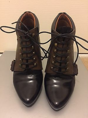 Vintage Givenchy Lace Up Boots