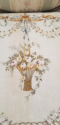 French Embroidery Garlands Roses flowers basket Lovely colors