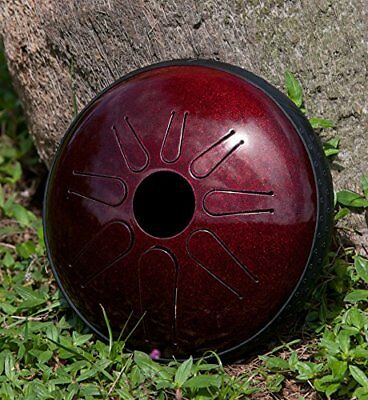 Idiopan Lunabell 8-Inch Tunable Steel Tongue Drum With Pickup - Ruby Red