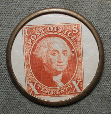 Encased Postage: Cincinnati OH Albert W Ault Loans On Coins G Washington 10c