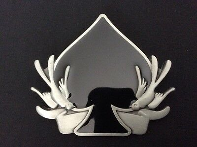 New Ace Of Spades Swallows Belt Buckle