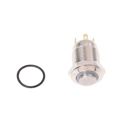 3V Push Button Switch Doorbell Button Blue LED 12 mm Silver PK W7O7