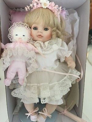 """""""Melody"""" Porcelain doll By Pauline's Limited Edition Dolls In Original Packaging"""