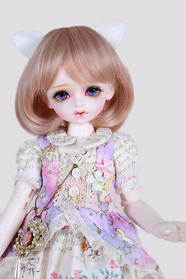 "New 1/8 Girl BJD SD Doll Wig Dollfie 5"" DZ DOD LUTS Bjd Doll Wig Short Wig"