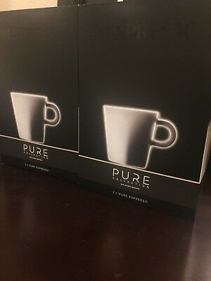 NEW Nespresso Pure Collection Espresso Cups Set Of 4