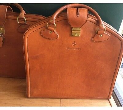 FERRARI SCHEDONI TESTAROSSA  2 Piece luggage with Covers and Keys -Vintage