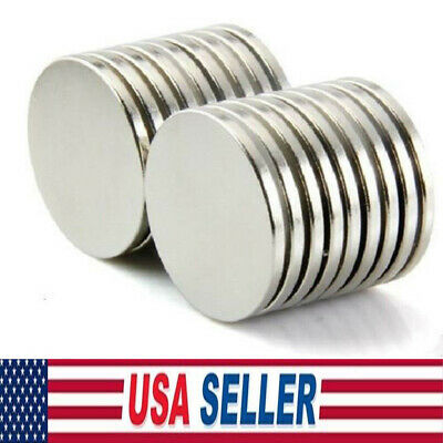 Lot10-100 12mm x 2mm Neodymium N35 Disc Super Strong Rare Earth Fridge Magnets