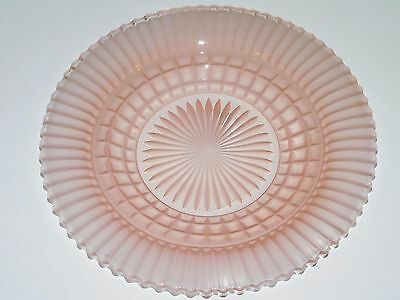 Vintage Pink Pressed Frosted Glass Plate 9 1/2in