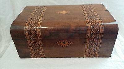 Antique Victorian Tunbridge Ware Table Box c1850-1890