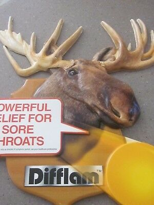Rare vintage  sign , moose head Difflam ,man cave sign
