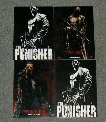 4 x POSTCARDS,THE PUNISHER,MARVEL.LOT,SET.HAVE MANY OTHER ITEMS FOR SALE.G18